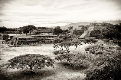¡Viva Mexico! B&W Collection - Monte Alban Pyramids III-Philippe Hugonnard-Photographic Print