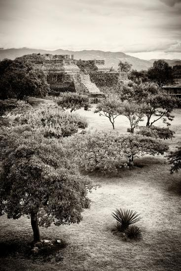 ?Viva Mexico! B&W Collection - Monte Alban Pyramids V-Philippe Hugonnard-Photographic Print