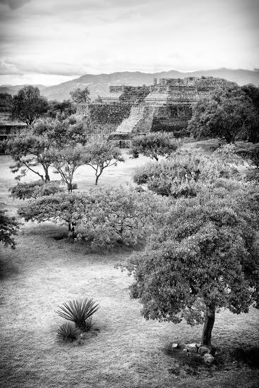 ?Viva Mexico! B&W Collection - Monte Alban Pyramids VI-Philippe Hugonnard-Photographic Print