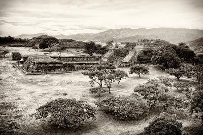 ?Viva Mexico! B&W Collection - Monte Alban Pyramids VII-Philippe Hugonnard-Photographic Print