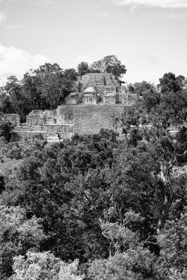 ¡Viva Mexico! B&W Collection - Pyramid in Mayan City of Calakmul VIII-Philippe Hugonnard-Photographic Print