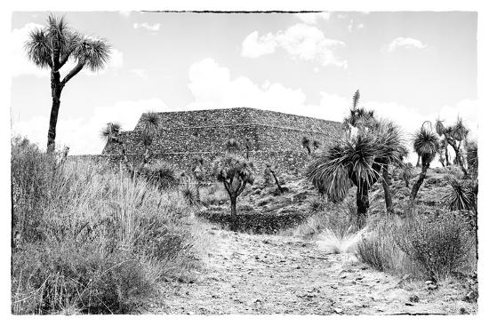¡Viva Mexico! B&W Collection - Pyramid of Cantona-Philippe Hugonnard-Photographic Print