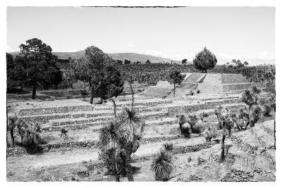 ?Viva Mexico! B&W Collection - Pyramid of Puebla VI (Cantona Ruins)-Philippe Hugonnard-Photographic Print