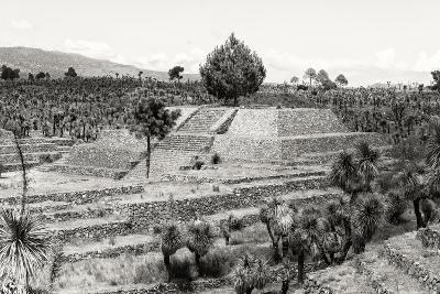 ?Viva Mexico! B&W Collection - Pyramid of Puebla VII (Cantona Ruins)-Philippe Hugonnard-Photographic Print