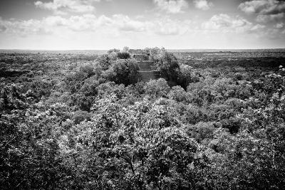 ?Viva Mexico! B&W Collection - Ruins of the ancient Mayan city of Calakmul-Philippe Hugonnard-Photographic Print