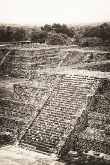 ?Viva Mexico! B&W Collection - Teotihuacan Pyramids - Archaeological Site-Philippe Hugonnard-Photographic Print