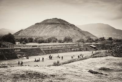 ?Viva Mexico! B&W Collection - Teotihuacan Pyramids II-Philippe Hugonnard-Photographic Print