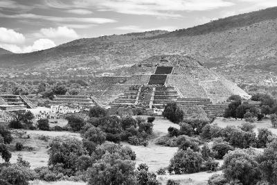 ?Viva Mexico! B&W Collection - Teotihuacan Pyramids III - Archaeological Site-Philippe Hugonnard-Photographic Print