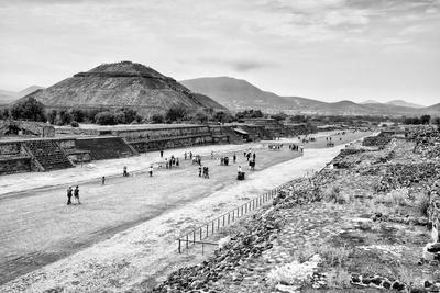 ¡Viva Mexico! B&W Collection - Teotihuacan Pyramids-Philippe Hugonnard-Photographic Print