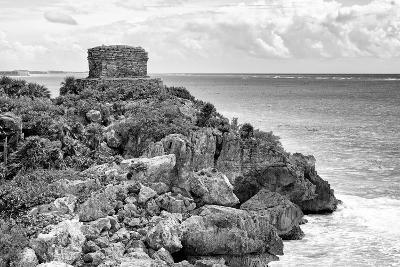 ?Viva Mexico! B&W Collection - Tulum Mayan Archaeological Site-Philippe Hugonnard-Photographic Print
