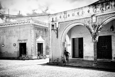¡Viva Mexico! B&W Collection - Urban Scene in Izamal II-Philippe Hugonnard-Photographic Print