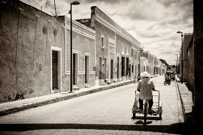 ?Viva Mexico! B&W Collection - Urban Scene in Izamal V-Philippe Hugonnard-Photographic Print