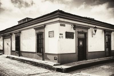 ?Viva Mexico! B&W Collection - Urban Scene in San Cristobal de Las Casas III-Philippe Hugonnard-Photographic Print