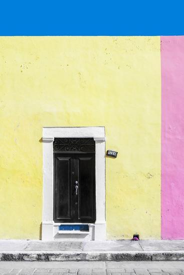 ?Viva Mexico! Collection - 124 Street Campeche - Yellow & Pink Wall-Philippe Hugonnard-Photographic Print