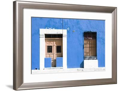 ¡Viva Mexico! Collection - 130 Street Campeche - Blue Wall-Philippe Hugonnard-Framed Photographic Print
