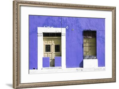 ¡Viva Mexico! Collection - 130 Street Campeche - Eggplant Wall-Philippe Hugonnard-Framed Photographic Print