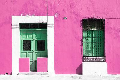 ¡Viva Mexico! Collection - 130 Street Campeche - Hot Pink Wall-Philippe Hugonnard-Photographic Print