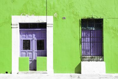 ?Viva Mexico! Collection - 130 Street Campeche - Lime Wall-Philippe Hugonnard-Photographic Print