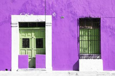 ?Viva Mexico! Collection - 130 Street Campeche - Purple Wall-Philippe Hugonnard-Photographic Print