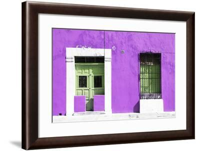 ¡Viva Mexico! Collection - 130 Street Campeche - Purple Wall-Philippe Hugonnard-Framed Photographic Print