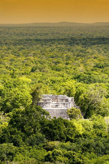 ?Viva Mexico! Collection - Ancient Maya City within the jungle at Sunset II - Calakmul-Philippe Hugonnard-Photographic Print