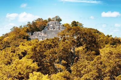 ?Viva Mexico! Collection - Ancient Maya City within the jungle in Autumn of Calakmul III-Philippe Hugonnard-Photographic Print