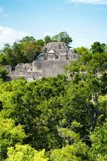 ?Viva Mexico! Collection - Ancient Maya City within the jungle of Calakmul VI-Philippe Hugonnard-Photographic Print