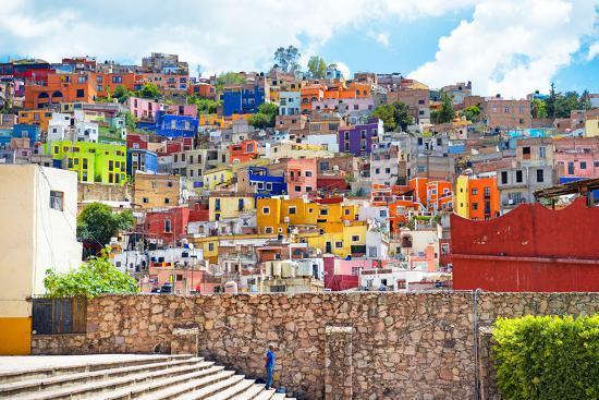¡Viva Mexico! Collection - Architecture Guanajuato-Philippe Hugonnard-Photographic Print