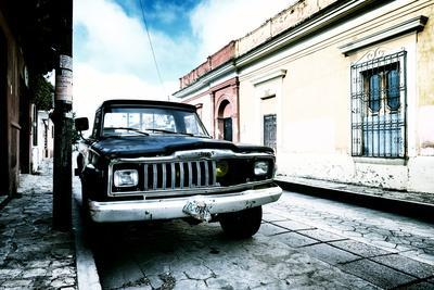 ¡Viva Mexico! Collection - Black Jeep and Colorful Street III-Philippe Hugonnard-Photographic Print