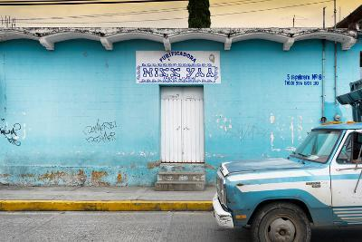?Viva Mexico! Collection - Blue Truck-Philippe Hugonnard-Photographic Print