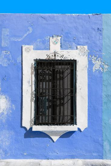 ¡Viva Mexico! Collection - Blue Window - Campeche-Philippe Hugonnard-Photographic Print