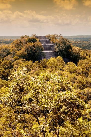 ?Viva Mexico! Collection - Calakmul in the Mexican Jungle with Fall Colors III-Philippe Hugonnard-Photographic Print