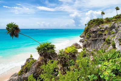 ?Viva Mexico! Collection - Caribbean Coastline in Tulum-Philippe Hugonnard-Photographic Print