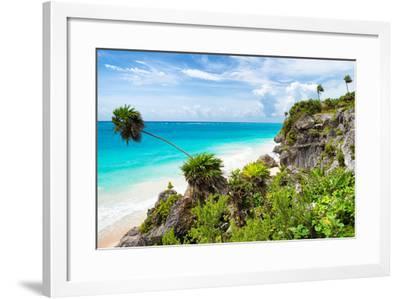 ¡Viva Mexico! Collection - Caribbean Coastline in Tulum-Philippe Hugonnard-Framed Photographic Print