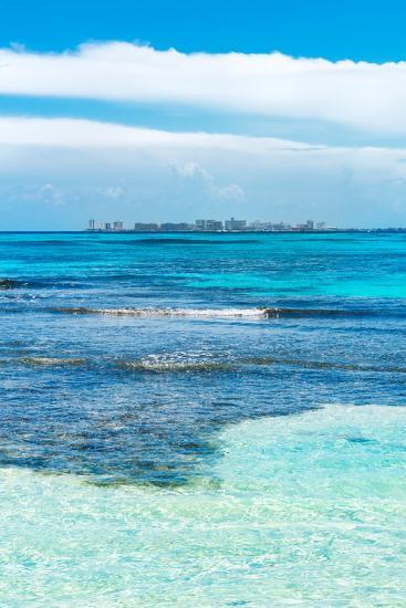 ?Viva Mexico! Collection - Caribbean Coastline overlooking Cancun II-Philippe Hugonnard-Photographic Print