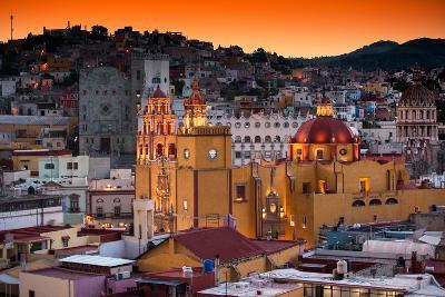 ¡Viva Mexico! Collection - Colorful City at Twilight - Guanajuato-Philippe Hugonnard-Photographic Print