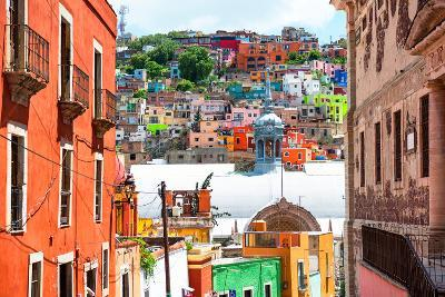 ¡Viva Mexico! Collection - Colorful Houses and Church Domes - Guanajuato-Philippe Hugonnard-Photographic Print