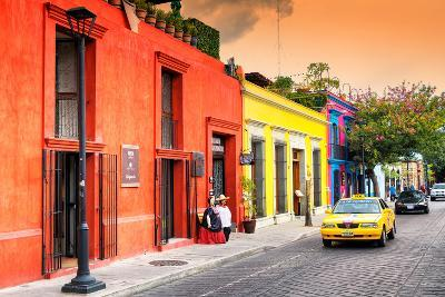 ?Viva Mexico! Collection - Colorful Mexican Street at Sunset-Philippe Hugonnard-Photographic Print