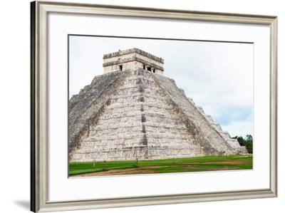 ¡Viva Mexico! Collection - El Castillo Pyramid - Chichen Itza IV-Philippe Hugonnard-Framed Photographic Print