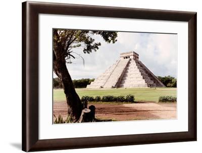 ¡Viva Mexico! Collection - El Castillo Pyramid in Chichen Itza XIX-Philippe Hugonnard-Framed Photographic Print