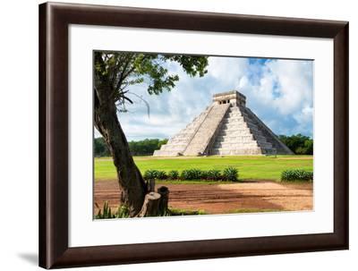 ¡Viva Mexico! Collection - El Castillo Pyramid in Chichen Itza XVIII-Philippe Hugonnard-Framed Photographic Print