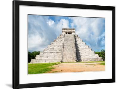 ¡Viva Mexico! Collection - El Castillo Pyramid in Chichen Itza XXIII-Philippe Hugonnard-Framed Photographic Print