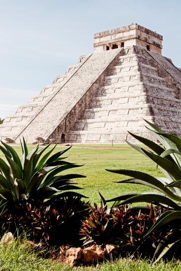 ?Viva Mexico! Collection - El Castillo Pyramid of the Chichen Itza IV-Philippe Hugonnard-Photographic Print