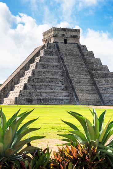 ?Viva Mexico! Collection - El Castillo Pyramid of the Chichen Itza VI-Philippe Hugonnard-Photographic Print