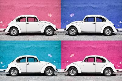¡Viva Mexico! Collection - Four VW Beetle Cars II-Philippe Hugonnard-Photographic Print