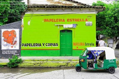 "¡Viva Mexico! Collection - Green ""Estrella""-Philippe Hugonnard-Photographic Print"