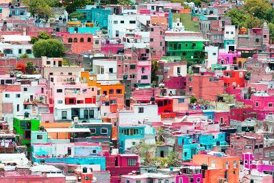 ?Viva Mexico! Collection - Guanajuato - Colorful Cityscape XIV-Philippe Hugonnard-Photographic Print