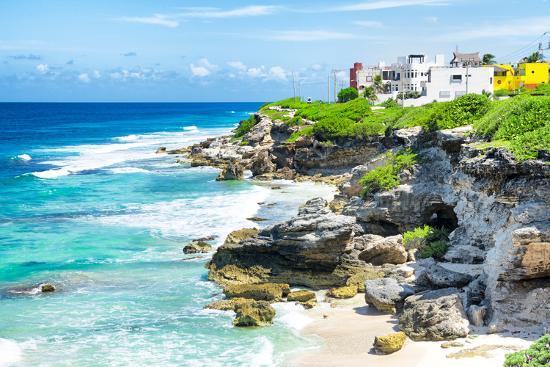 ¡Viva Mexico! Collection - Isla Mujeres Coastline-Philippe Hugonnard-Photographic Print