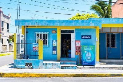 "?Viva Mexico! Collection - ""La Esquina"" Blue Supermarket - Cancun-Philippe Hugonnard-Photographic Print"