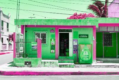 "?Viva Mexico! Collection - ""La Esquina"" Green Supermarket - Cancun-Philippe Hugonnard-Photographic Print"
